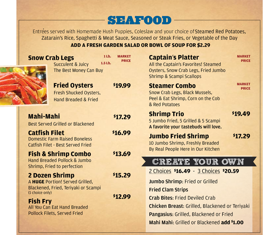 Victorio S Oyster Bar Menu Seafood Appetizers